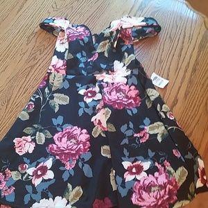 Charlotte Russe off shoulder flowered dress.